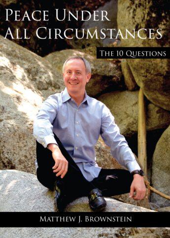 Matthew Brownstein author of Peace Under All Circumstances