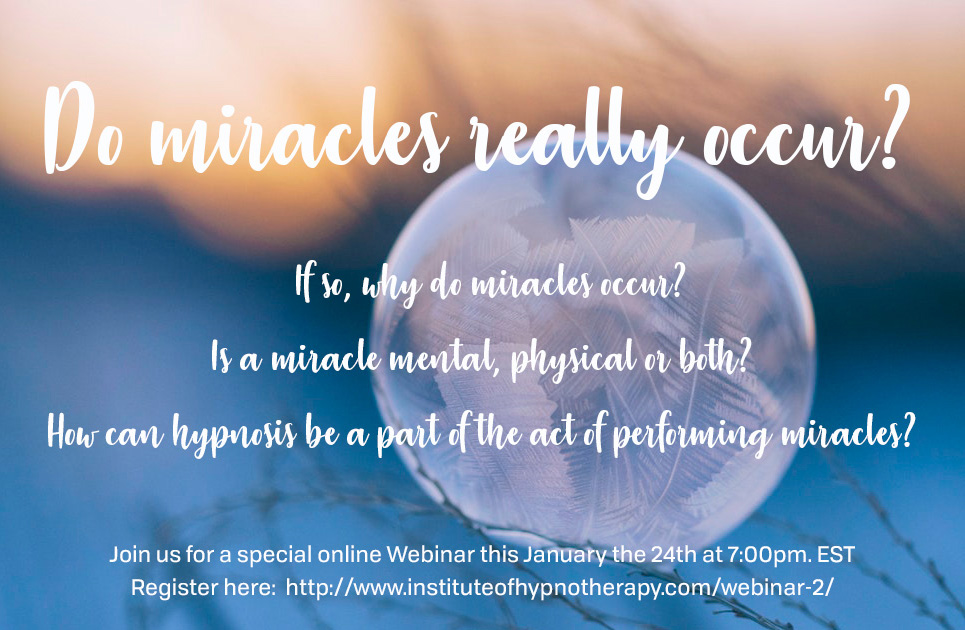 Webinar: Working Miracles through Hypnotherapy Training