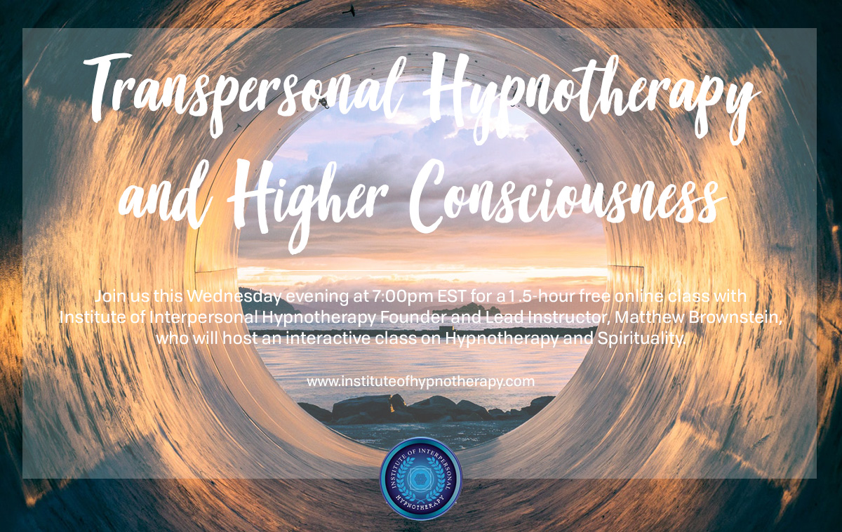 Webinar: Transpersonal Hypnotherapy and Higher Consciousness