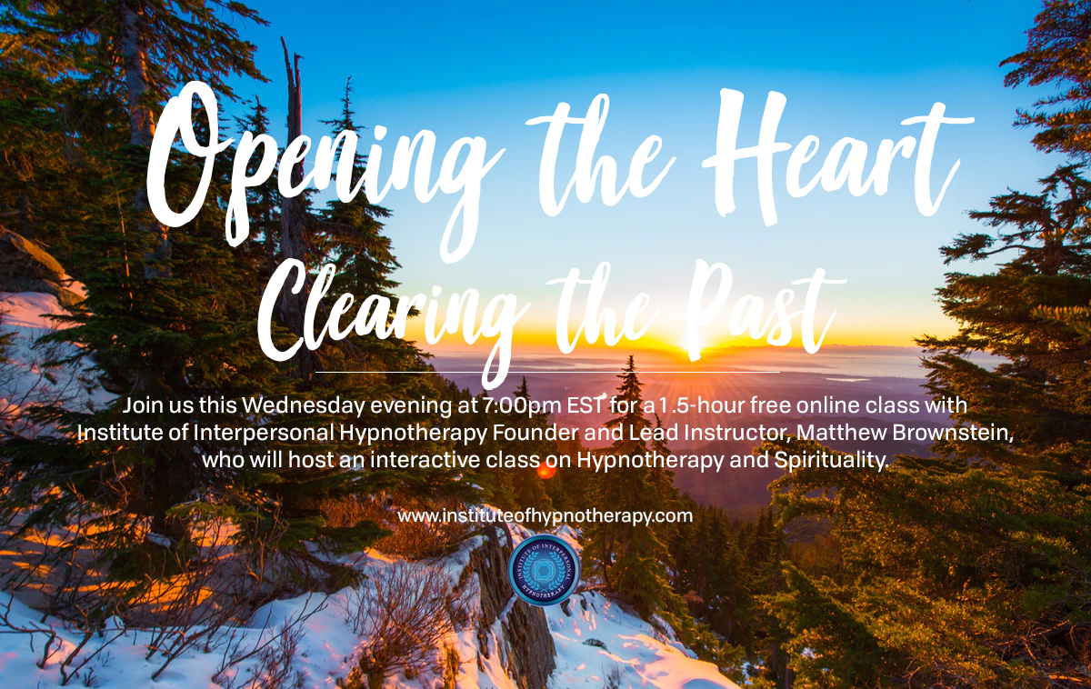 Wednesday Night Webinar: Opening the Heart – Clearing the Past