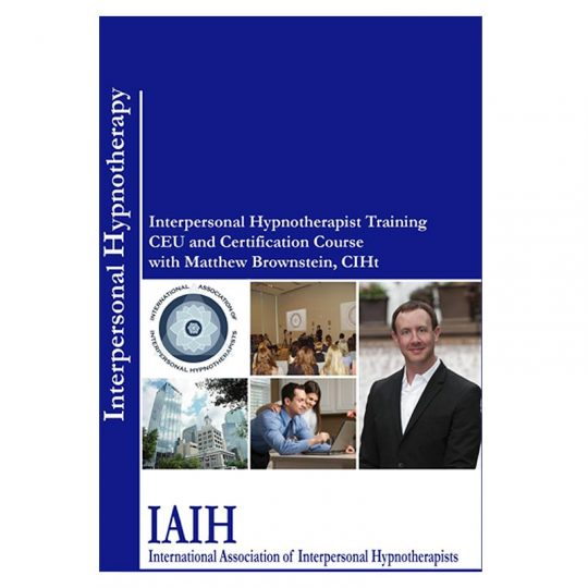 Book Cover - Interpersonal Hypnotherapist Training