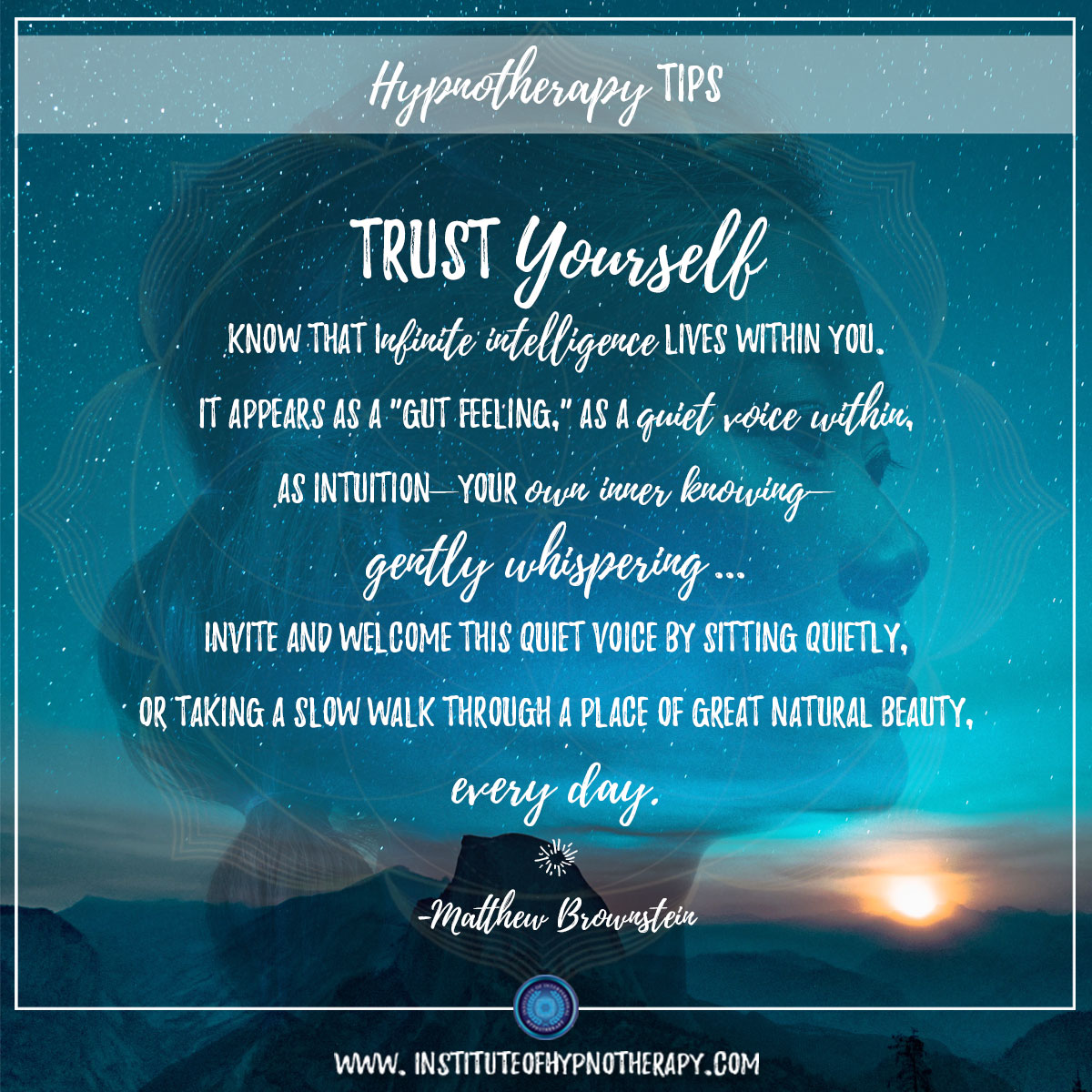 Hypnotherapy Tip – Trust Yourself