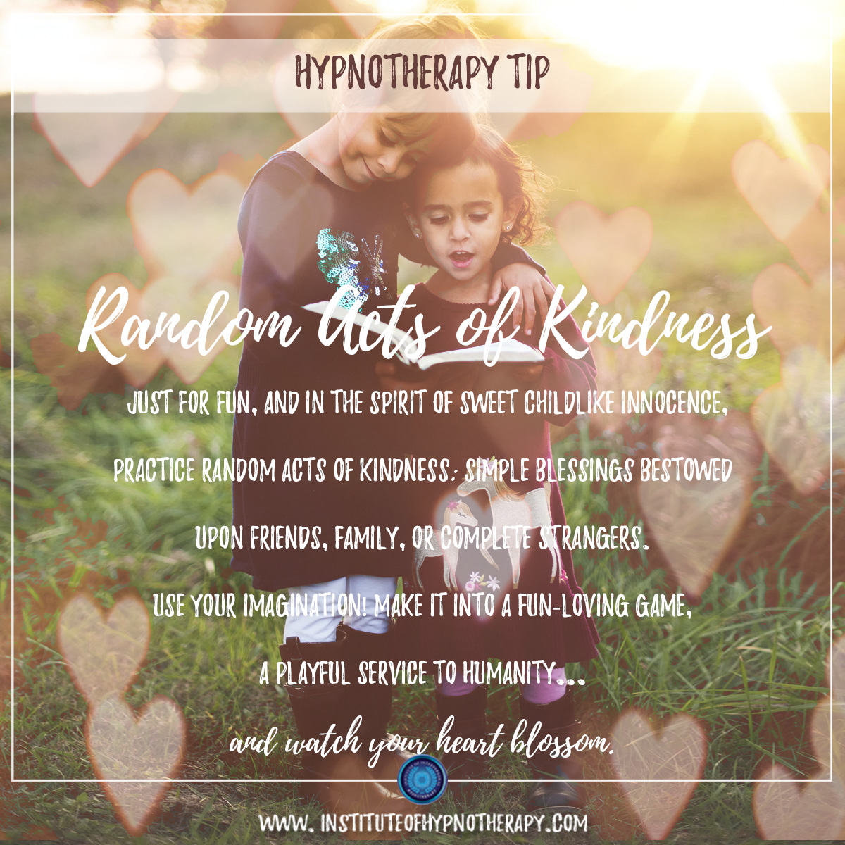 Hypnotherapy Tip Random Acts of Kindness