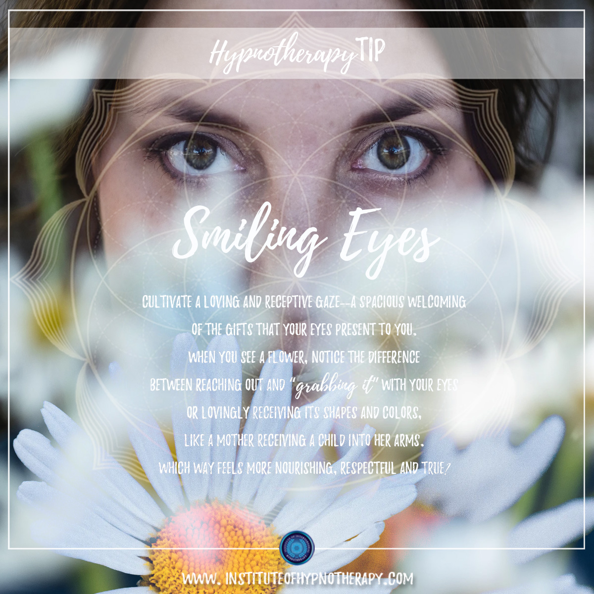 Hypnotherapy Tip : Smiling Eyes