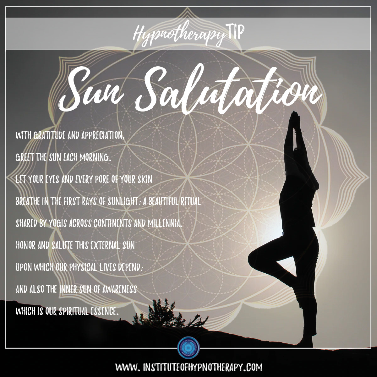 Hypnotherapy Tip : Sun Salutation