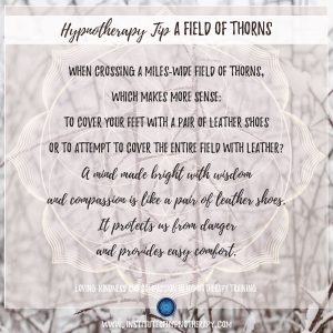 Hypnotherapy Tip A Field of Thorns