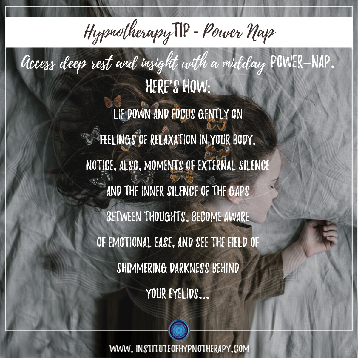 Hypnotherapy Tip : Power Nap!