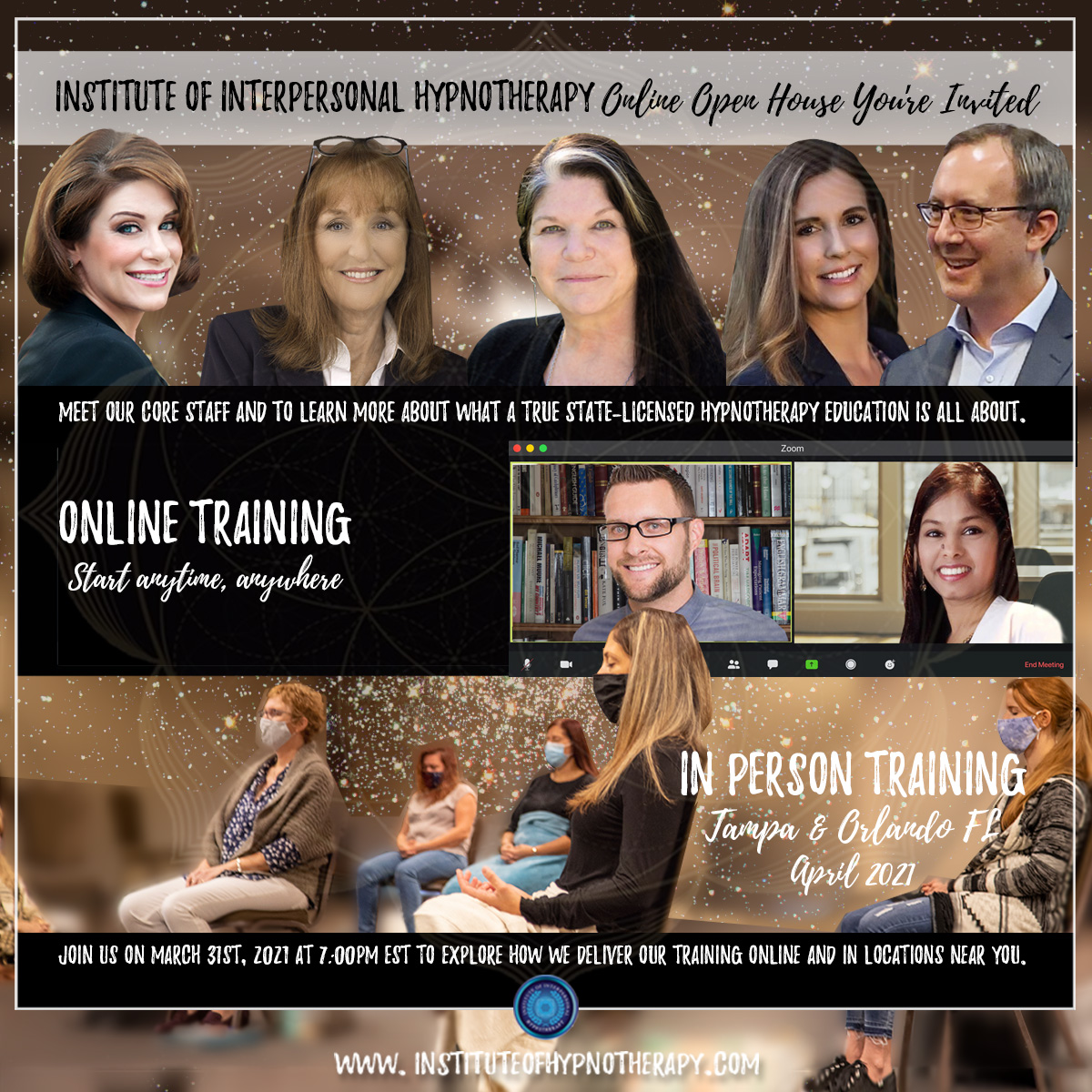 Institute of Interpersonal Hypnotherapy Online Open House THIS WEEK – You're Invited